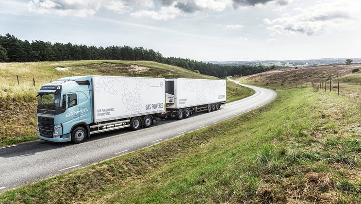 Autocamionul Volvo FH LNG