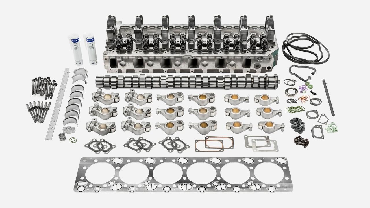 Oferta de revizie a motoarelor autocamioanelor Volvo pentru partea superioară