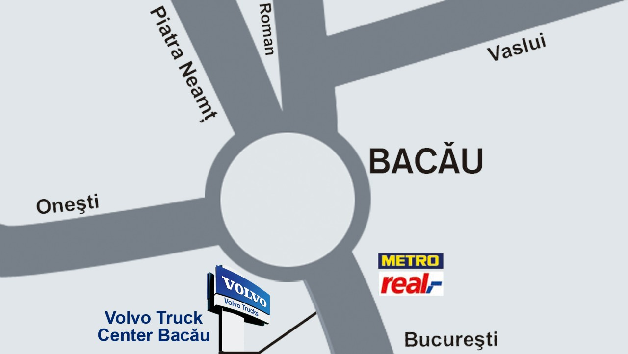 Harta localizare Truck Center Bacau