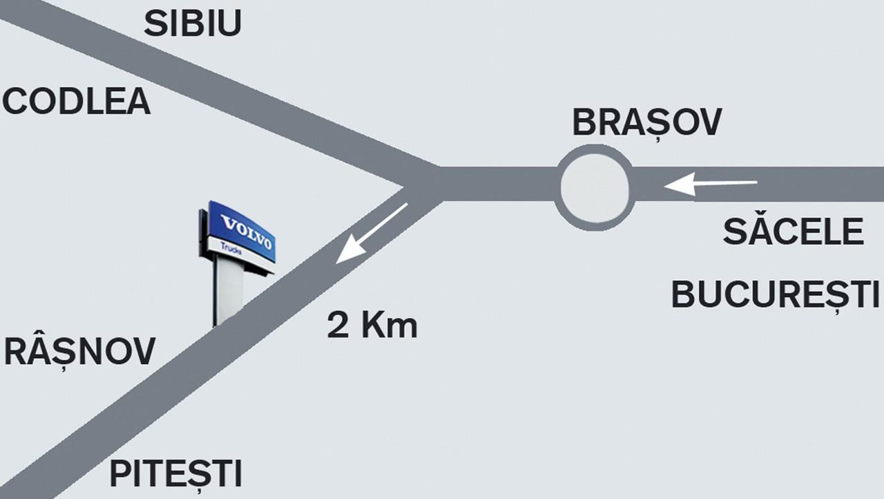 Harta localizare Truck Center Brasov