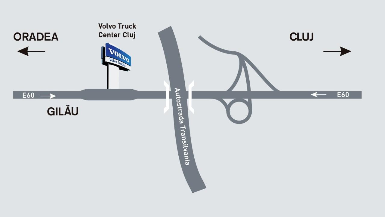 Harta localizare Truck Center Cluj