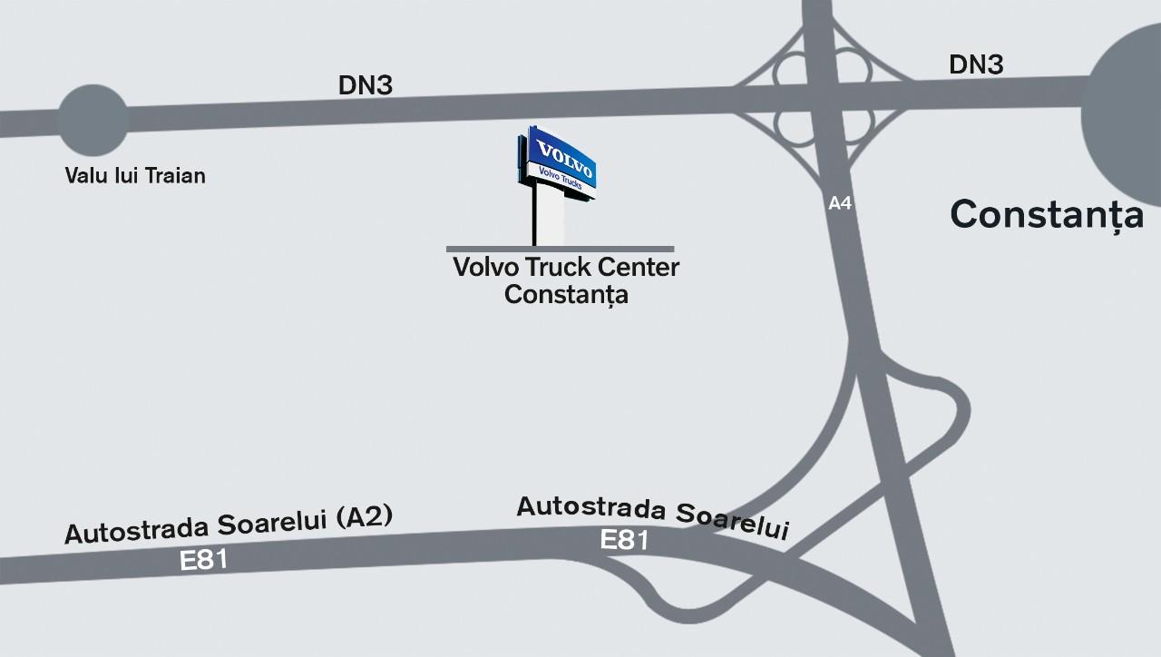 Harta localizare Truck Center Constanta