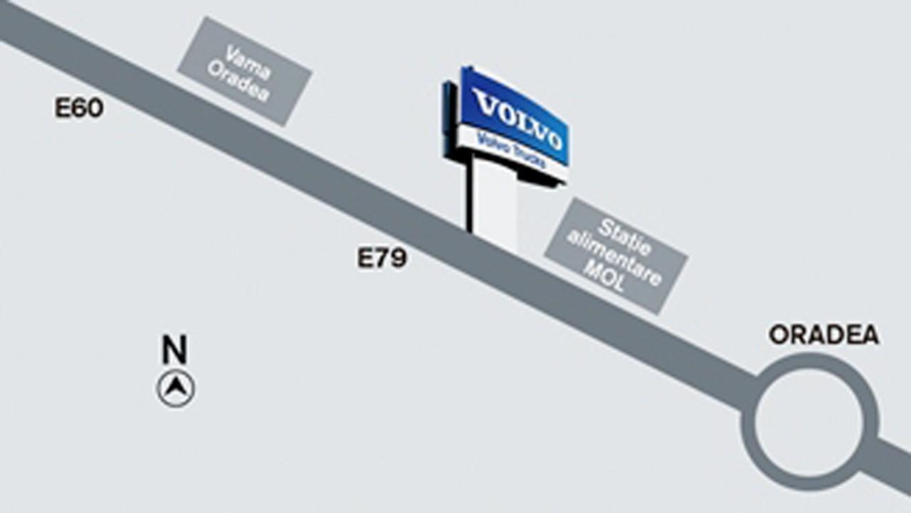 Harta localizare Truck Center Oradea
