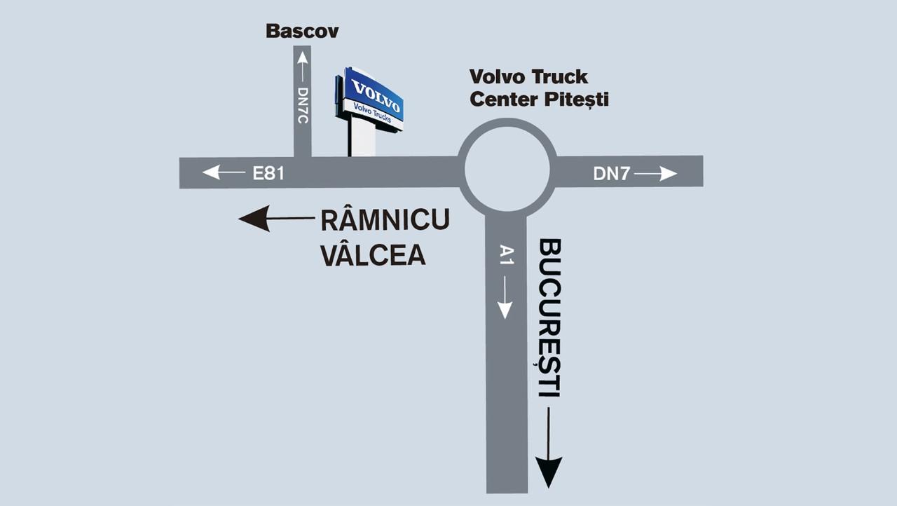 Harta localizare Truck Center Pitesti