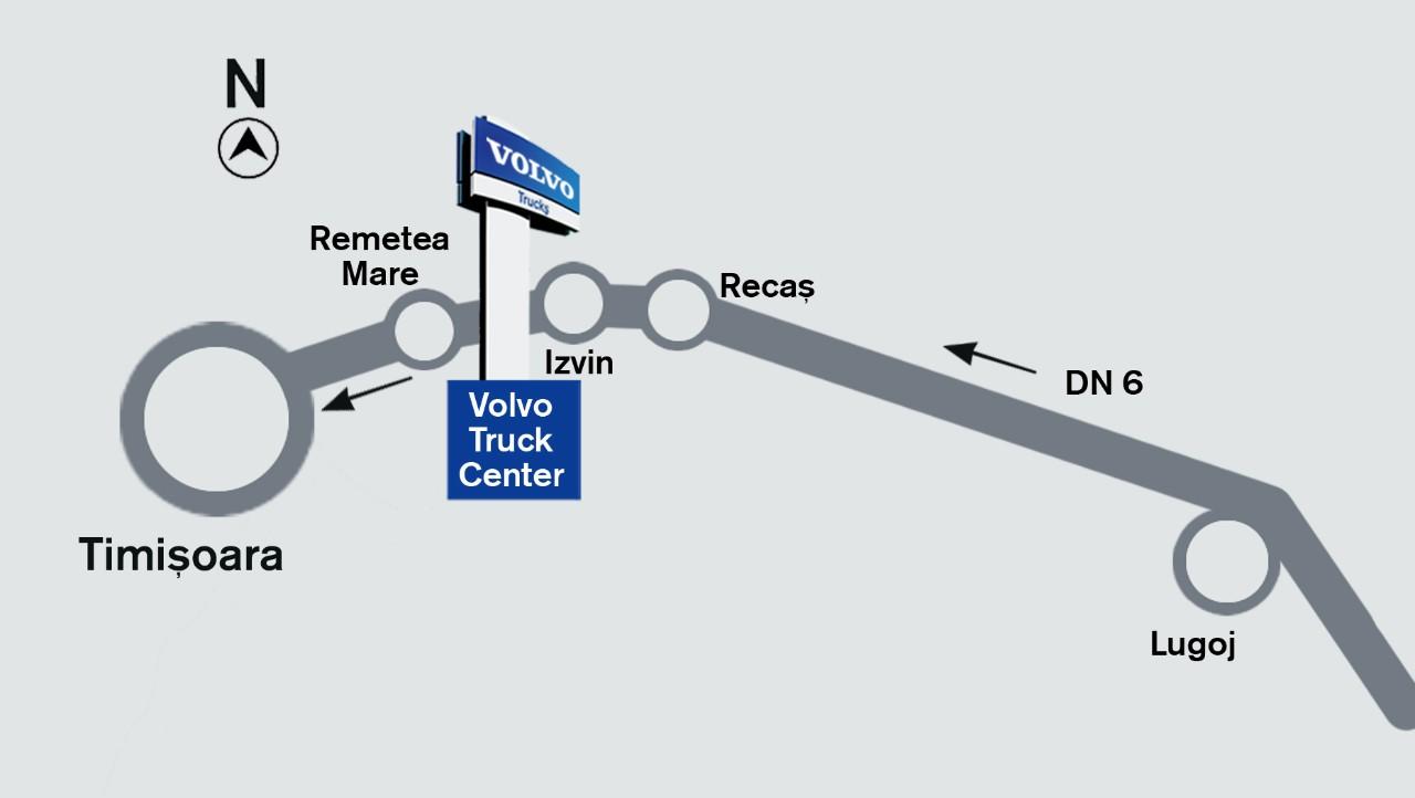 Harta localizare Truck Center Timisoara
